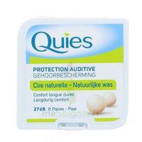 QUIES PROTECTION AUDITIVE CIRE NATURELLE 8 PAIRES à Béziers