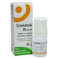 CROMABAK 20 mg/ml, collyre en solution à Béziers
