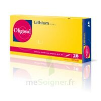 Oligosol Lithium Solution buvable en ampoule ou en récipient unidose 28Amp/2ml à Béziers
